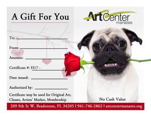 Artists' Market Certificate Valentines Day