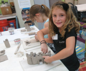 Child clay castle