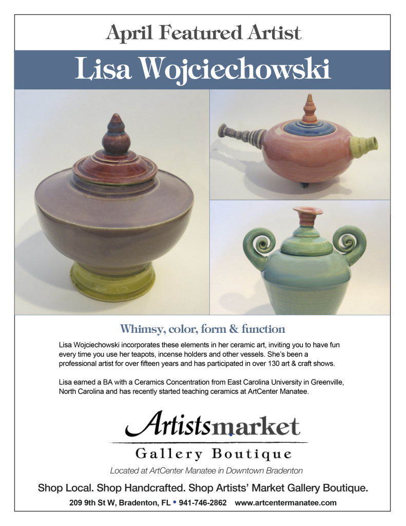 Featured Artist April Lisa Wojciehowshi Flyer