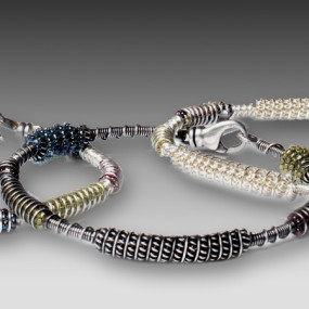 Coiled Seed Bead Wire Bracelet Workshop