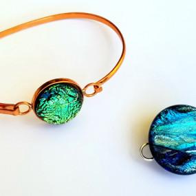 Dichroic & Copper Bracelet, Liana Martin