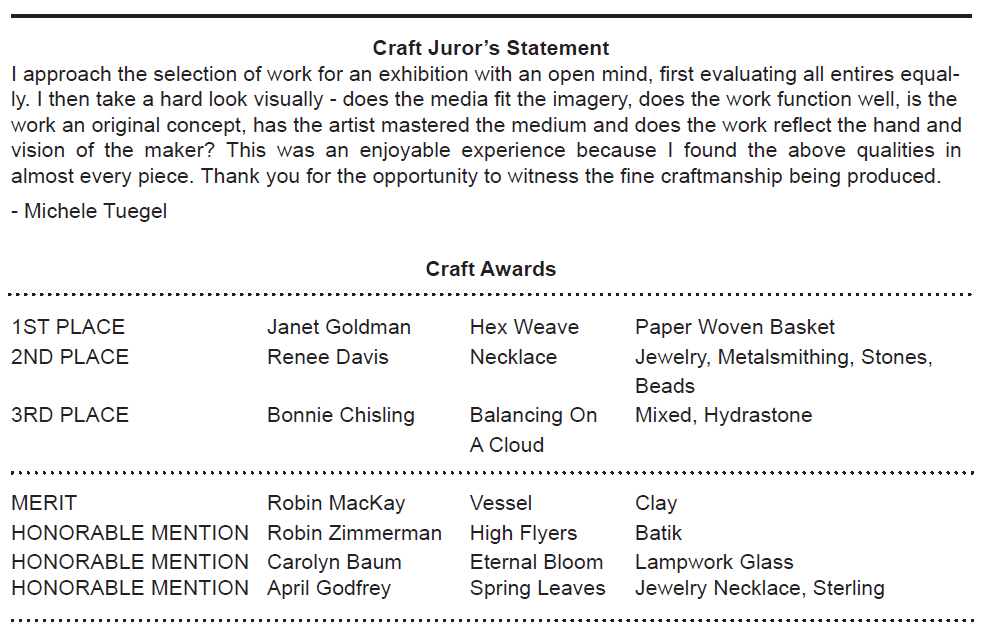 craft awards for web