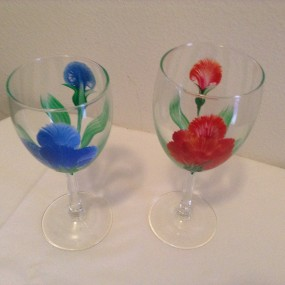 Nights Out-Painted Wine Glasses with Annette Kneeland