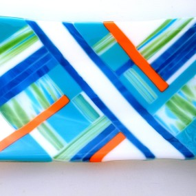 Fused Glass Plate, Liana Martin