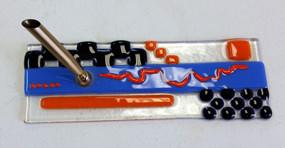 Fused Glass Pen Holder