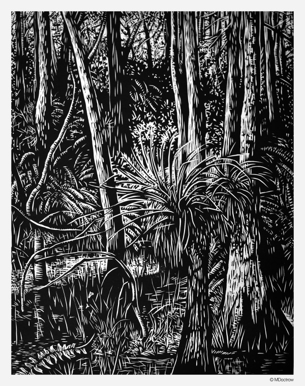 Doctrow_Roberts_Lake_Strand_woodcut_14x18 copy