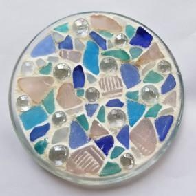 Nights Out-Mosaic Glass Dish