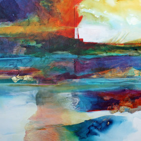 Fluid Acrylic On Canvas Workshop with Sue Downes Allen