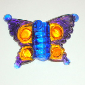 Flame Work Butterfly Bead, Liana Martin