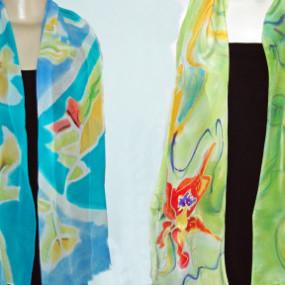 Silk Scarf Painting, Linda Tilson