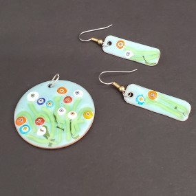 Nights Out: Enamel Earrings OR Pendant