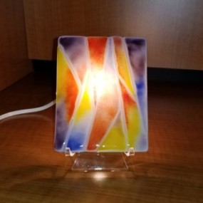 Fused Glass Easel Light, Liana Martin