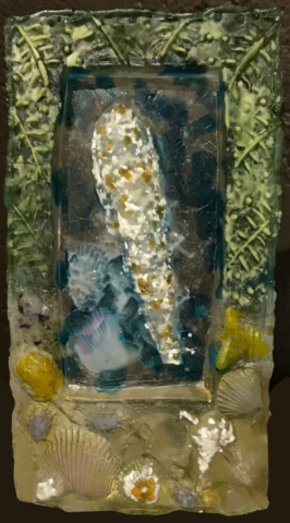 Beach Finds by Harriet Harris, Cast Glass, $650