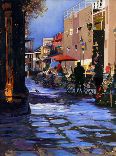 Early Morning Jackson Square by Kathy Simon-McDonald, $900