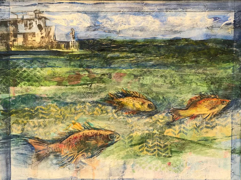 Fish Eye View by Lynda Elias, Mixed, $400