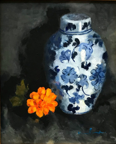 Ginger Jar by Marie Garafino, Oil, $750