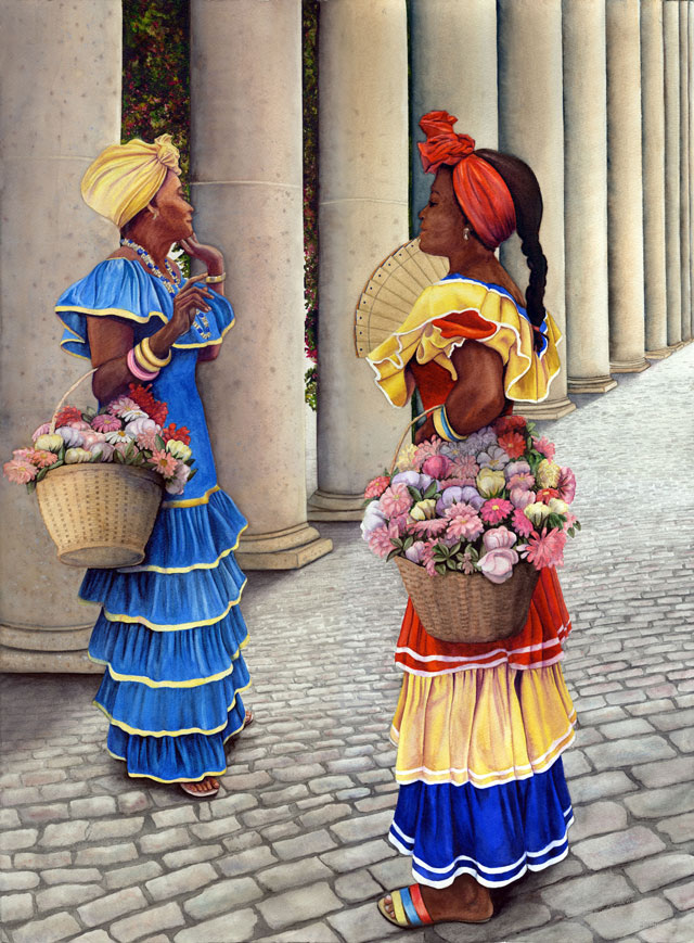 Havana Conversation by Kathy Simon McDonald, $950