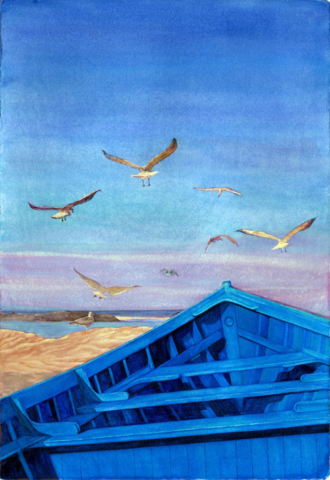 Morocan Blue Day by Kathy Simon-McDonald,$750