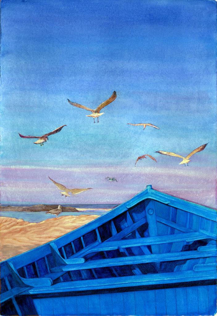 Morocan Blue Day by Kathy Simon-McDonald,$750