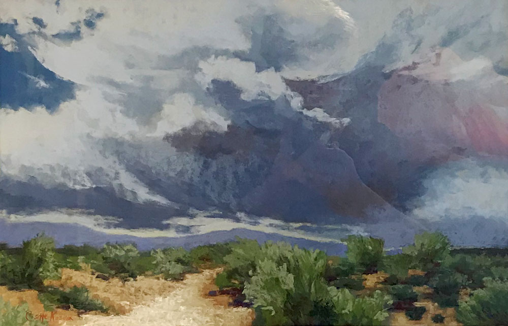 Outside Albuquerque by Cosette Kosiba, Pastel, $1000