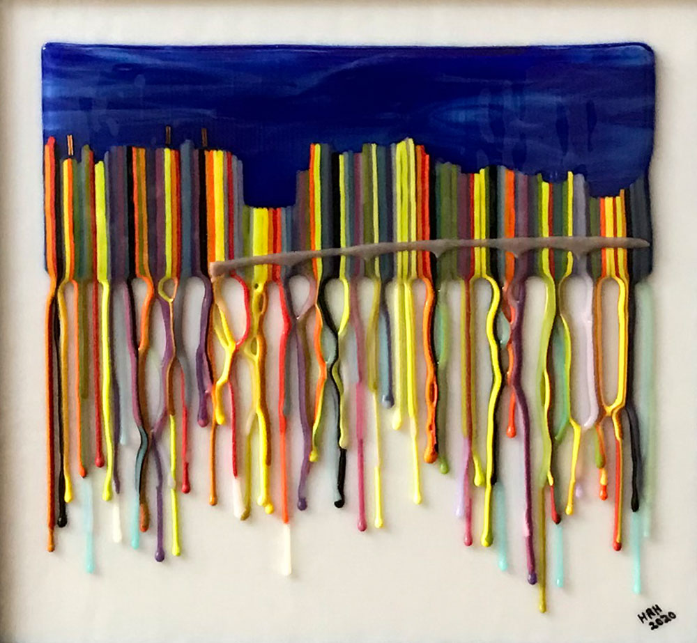 Sarasota Summer by Harriet Harris, Fused-Glass, $325