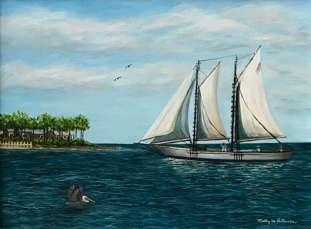 Schooner At Mallory Square by Kathy Lee Patterson, Acrylic, $215