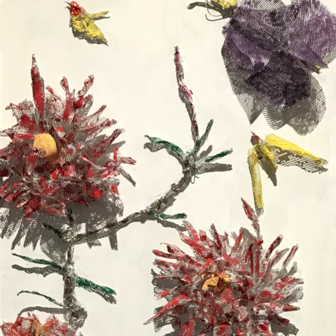 Flora in Glory by Sheldon Aptekar, Mixed Media, $550
