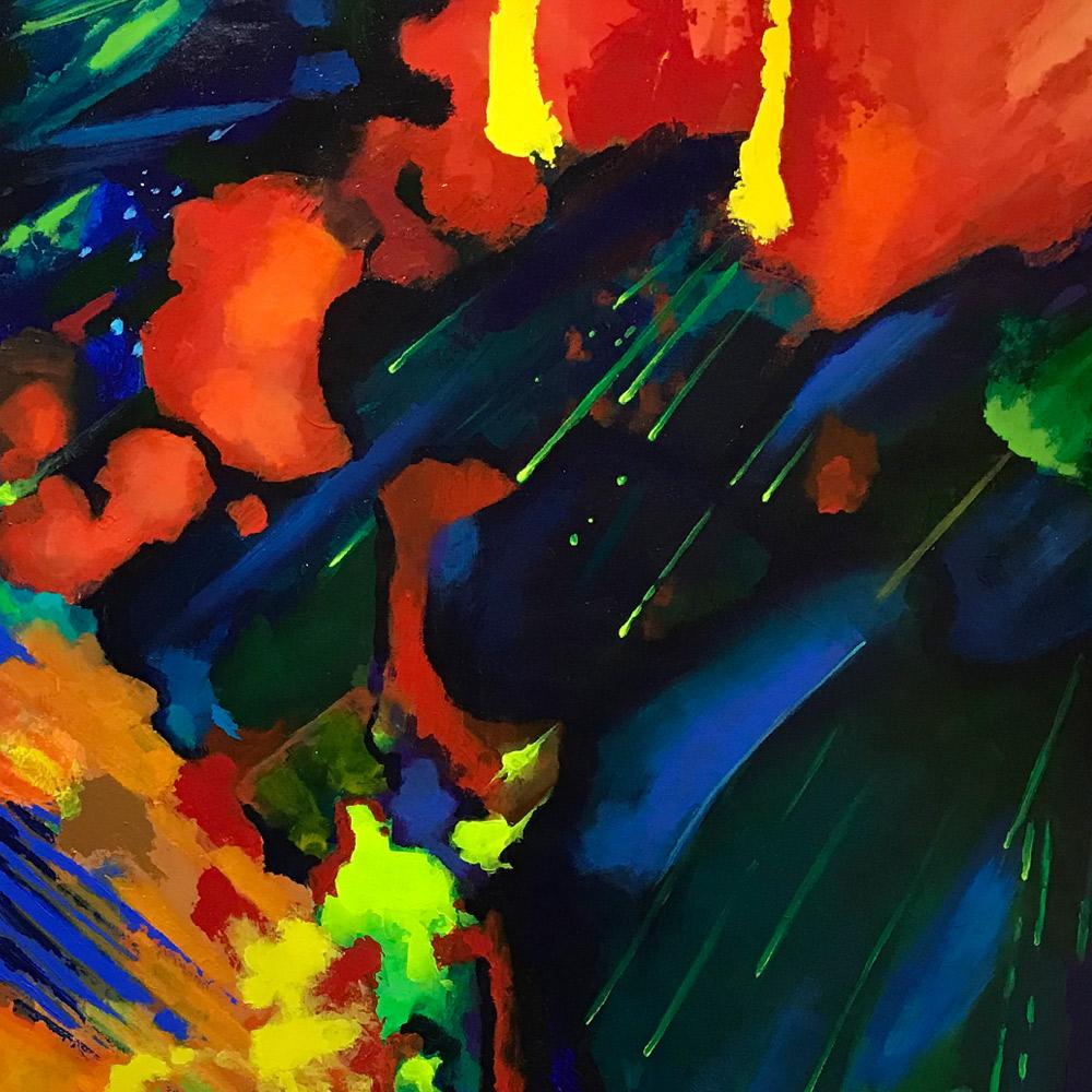 Black Opal by Steve Gemesi, Acrylic, $950