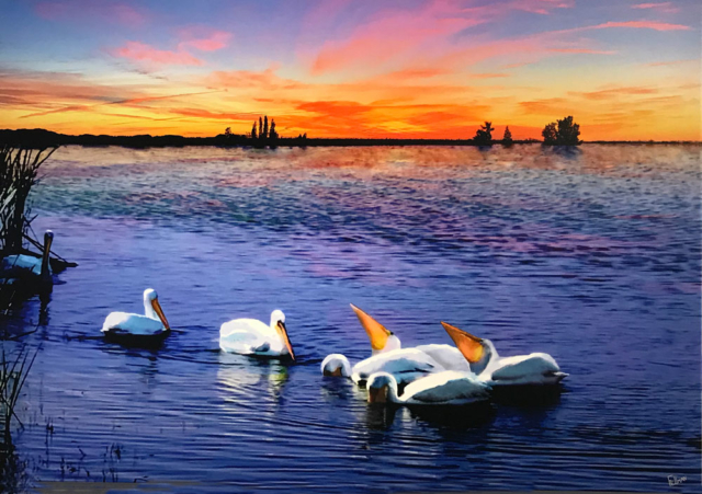 Sunset Nourishment by Arnold Fellman, Photographic Transformation, $1,200