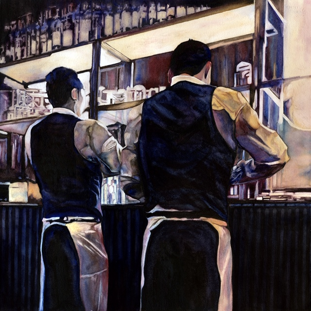 Waiters 3 by Kathy Simon-McDonald, Series of 4 $3,000