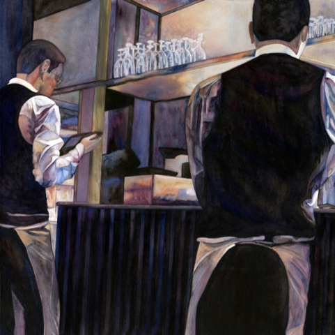 Waiters 2 by Kathy Simon-McDonald, $3,000 for Set of 4