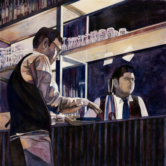 Waiters 4 by Kathy Simon-McDonald, $3,000 for Set of 4