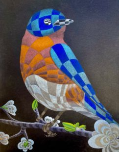 Optical Illusion InToo Southern Blue Jay by David Leppek