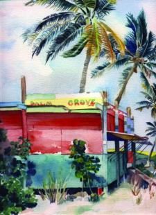 Palm Grove by Karen Beach