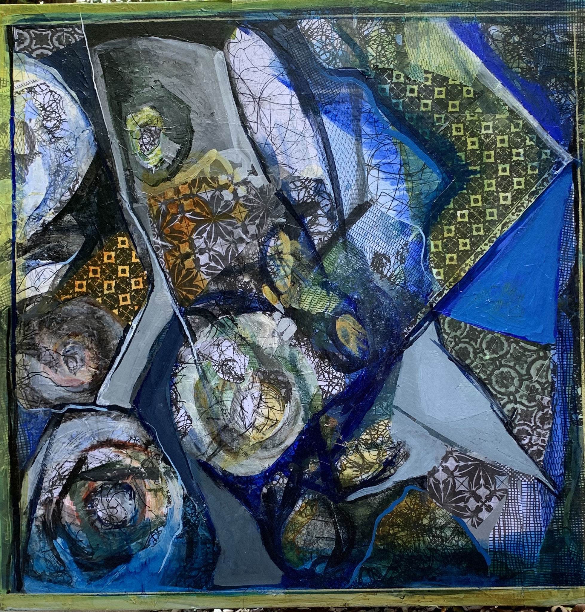 Portuguese Quilt Piece by Lynda Elias