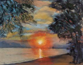 Sunrise at the Rod & Reel Pier, AMI by Barbara Truemper-Green