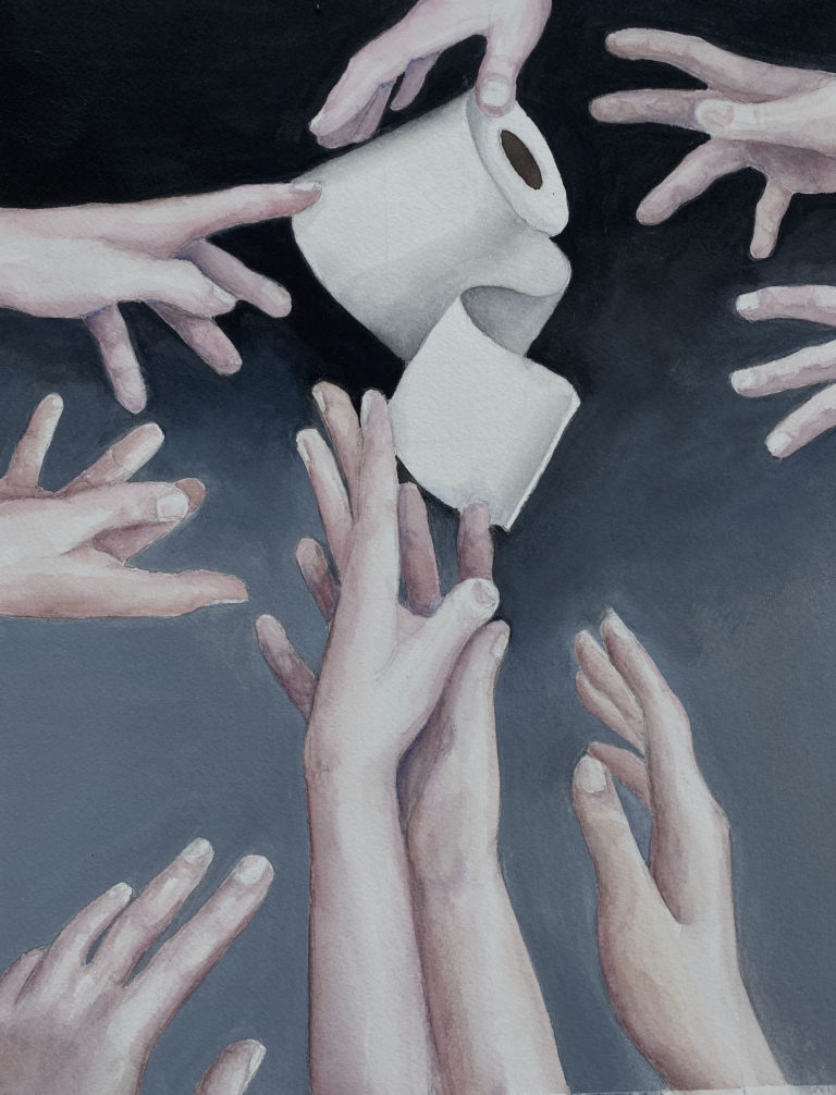 Toilet Paper Grab by Betty Gerich