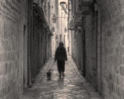 Walking Her Dog by Susan Kobos