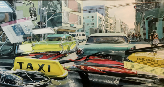 Havana Taxi by John Bayalis HM