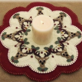 Wooly Candle Mats, Jan Wright