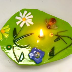 Fused Glass Oil Lamp, Liana Martin