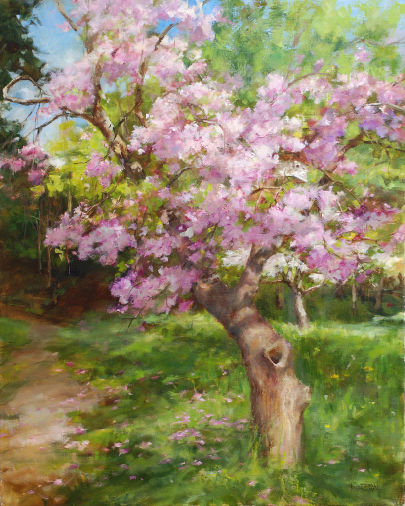 Bud's Old Cherry Tree by Kathy Anderson OPAM, 30x24, $5,500