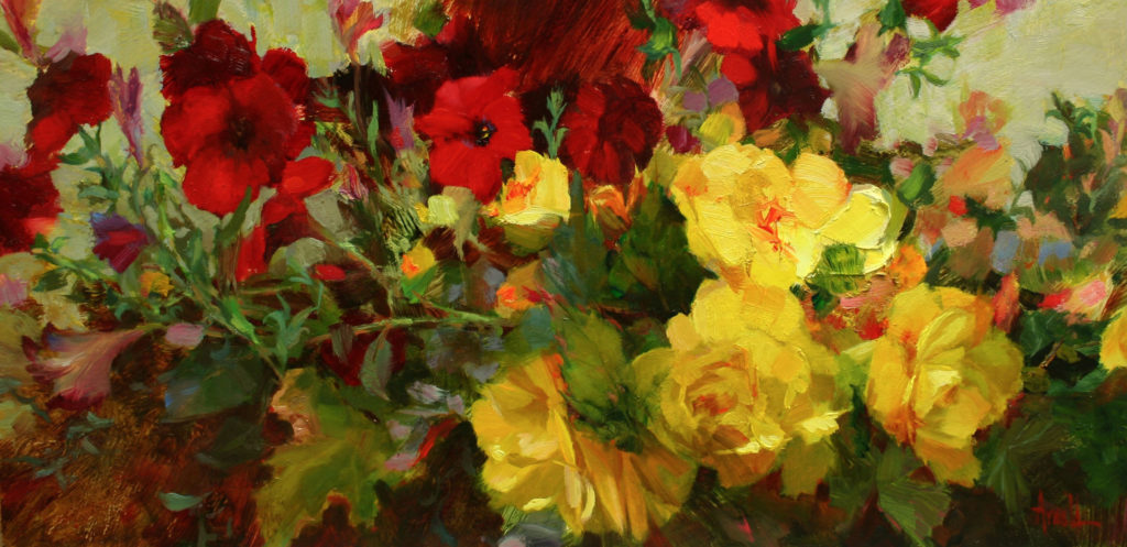 Red and Yellow Joy by Carol Arnold, 10×20, $2,500