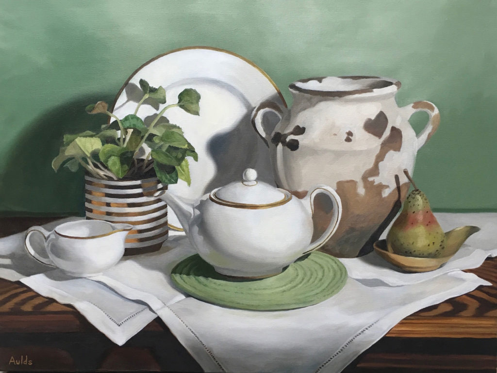 Afternoon Tea by Suzanne Aulds, 18×24, $2,000