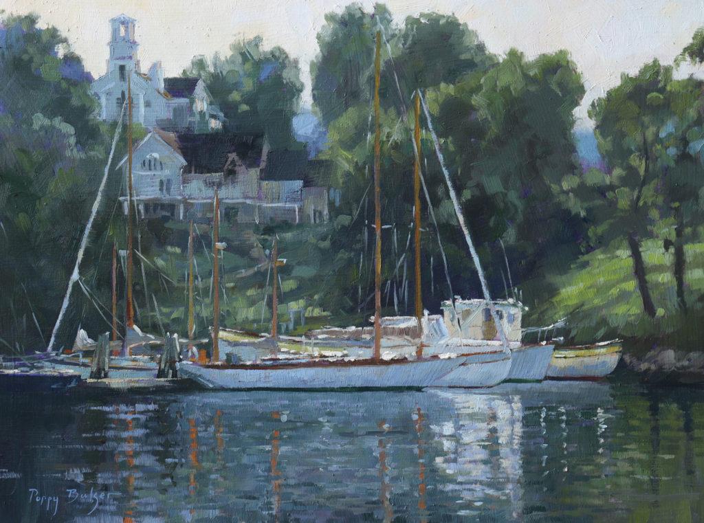 Rockport Harbor by Poppy J Balser, 12×16, $1,100
