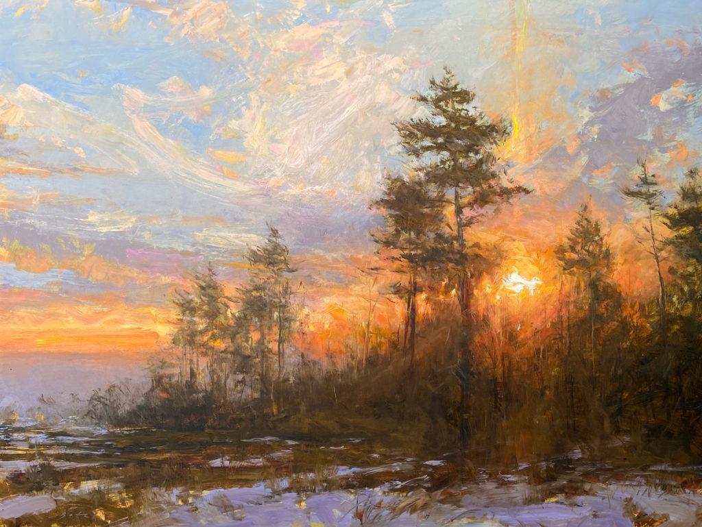 Sunrise, Early Spring by Paul F Batch, III OPA, 30×40, $7,500