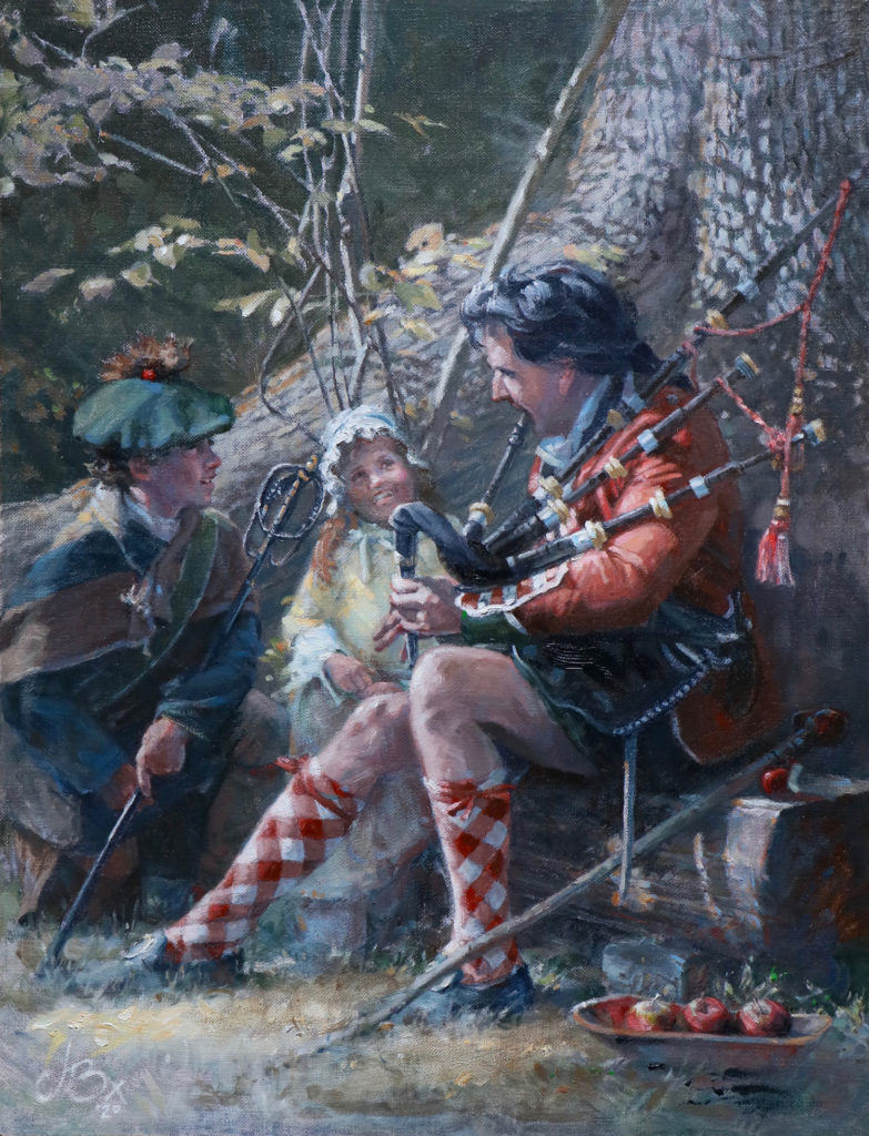 Apples of Adoration by John Buxton, 17×13, $6,500