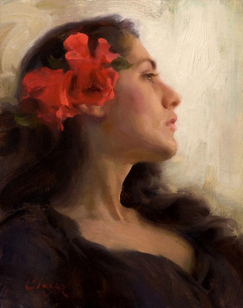 Dulcinea by Adam Clague OPA, 14×11, $1,350