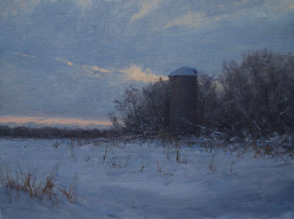 Winter Evening by Joshua L Cunningham, 12×16, $1,400
