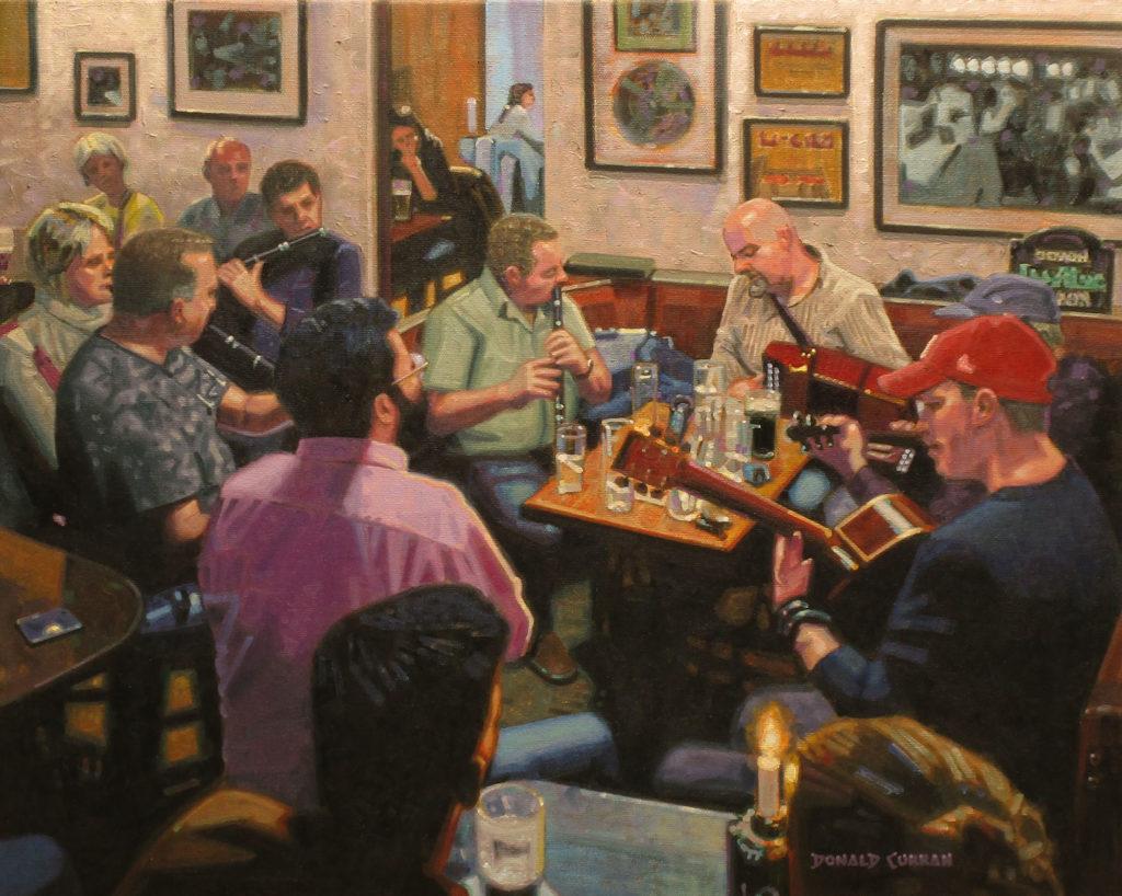 An Seisiun by Donald E Curran OPA, 16×20, $2,000